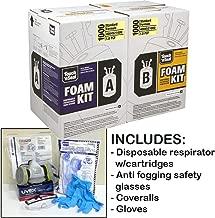 Touch n' Seal U2 1000BF 1.0 PCF Fire Retardant Open Cell Polyurethane Spray Foam Insulation Kit-with *BONUS* Protective Gear (Regular Gear)