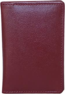 Style98 Unisex Leather Thin Credit Card Case Travel Wallet -Brown - Small (3264S204-Db)