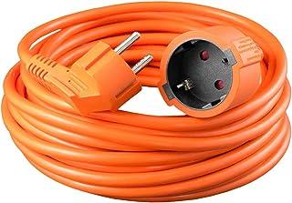 benon Verlängerungskabel Schuko, 30m Orange - Verlängerung mit Kindersicherung, max. 3680W - H05VV-F 3G 1,52 - Anwendung bei -5° bis 70°C