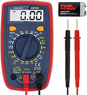 AstroAI Digital Multimeter with Ohm Volt Amp and Diode Voltage Tester Meter (Dual Fused..