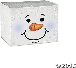 Fun Express Holiday Snowman Gift Boxes - 1 Dozen