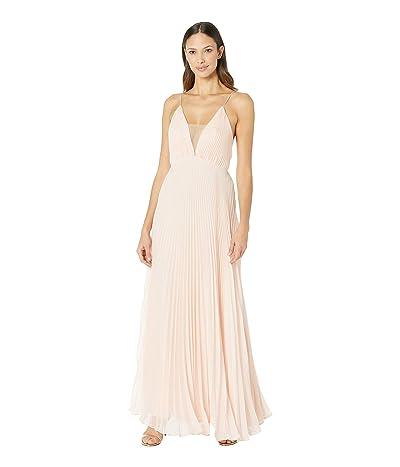 JILL JILL STUART Pleated Deep V Dress (Ballet Pink) Women