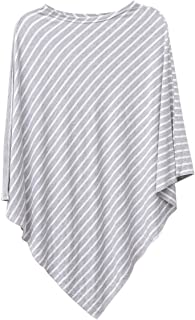 Striped Triangle Nursing Cover Outdoor Breastfeeding Scarf Stroller Cover for students