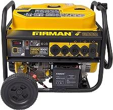 Firman P08003 10000/8000 Watt 120/240V 30/50A Remote Start Gas Portable Generator CARB Certified, Black