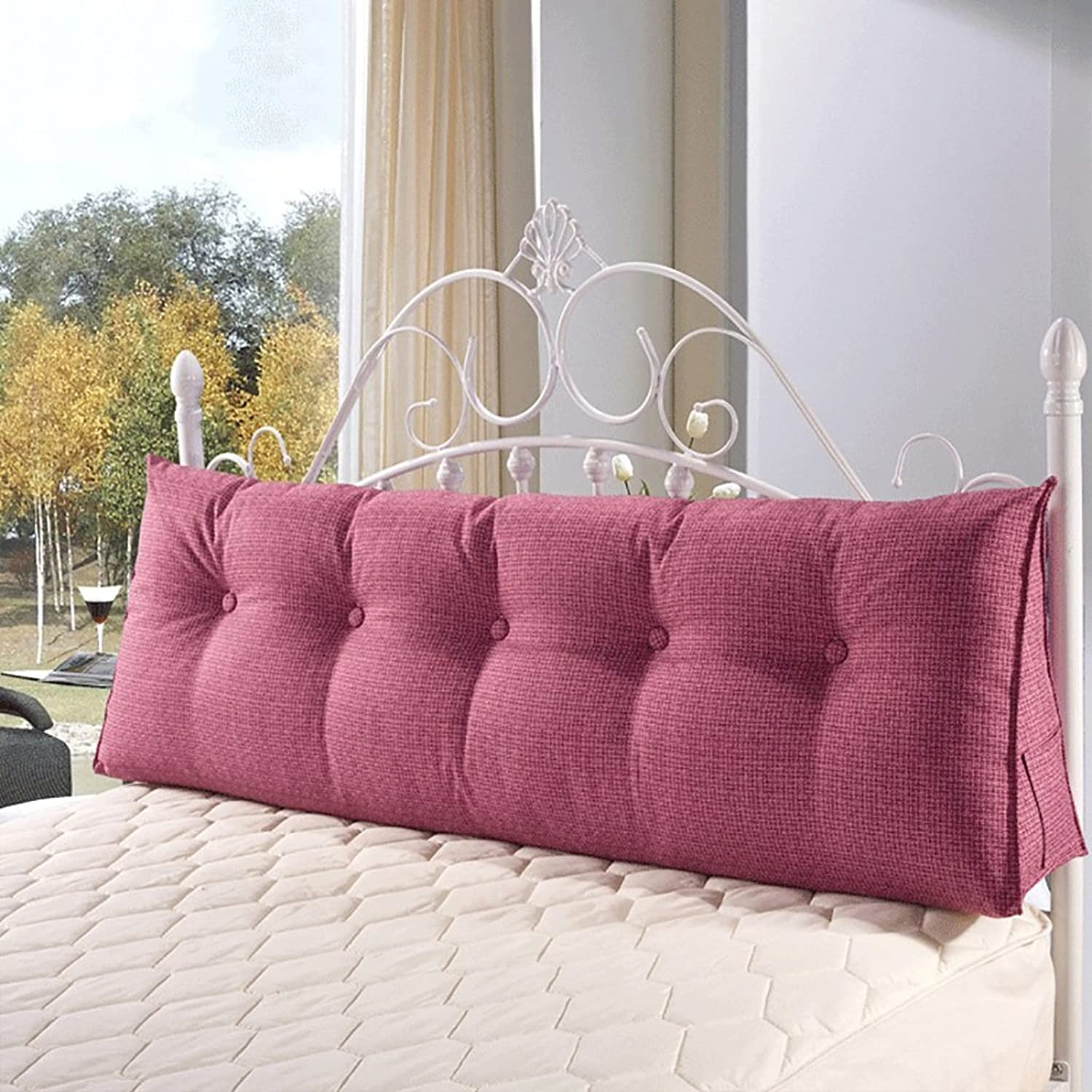 RFJJAL Bed Large Back Sofa Cushion Bed Head Pillow Long Pillow Bed Back Cushion Soft Bag Without Bed Double Washable (color   Purple, Size   60  50  20cm)