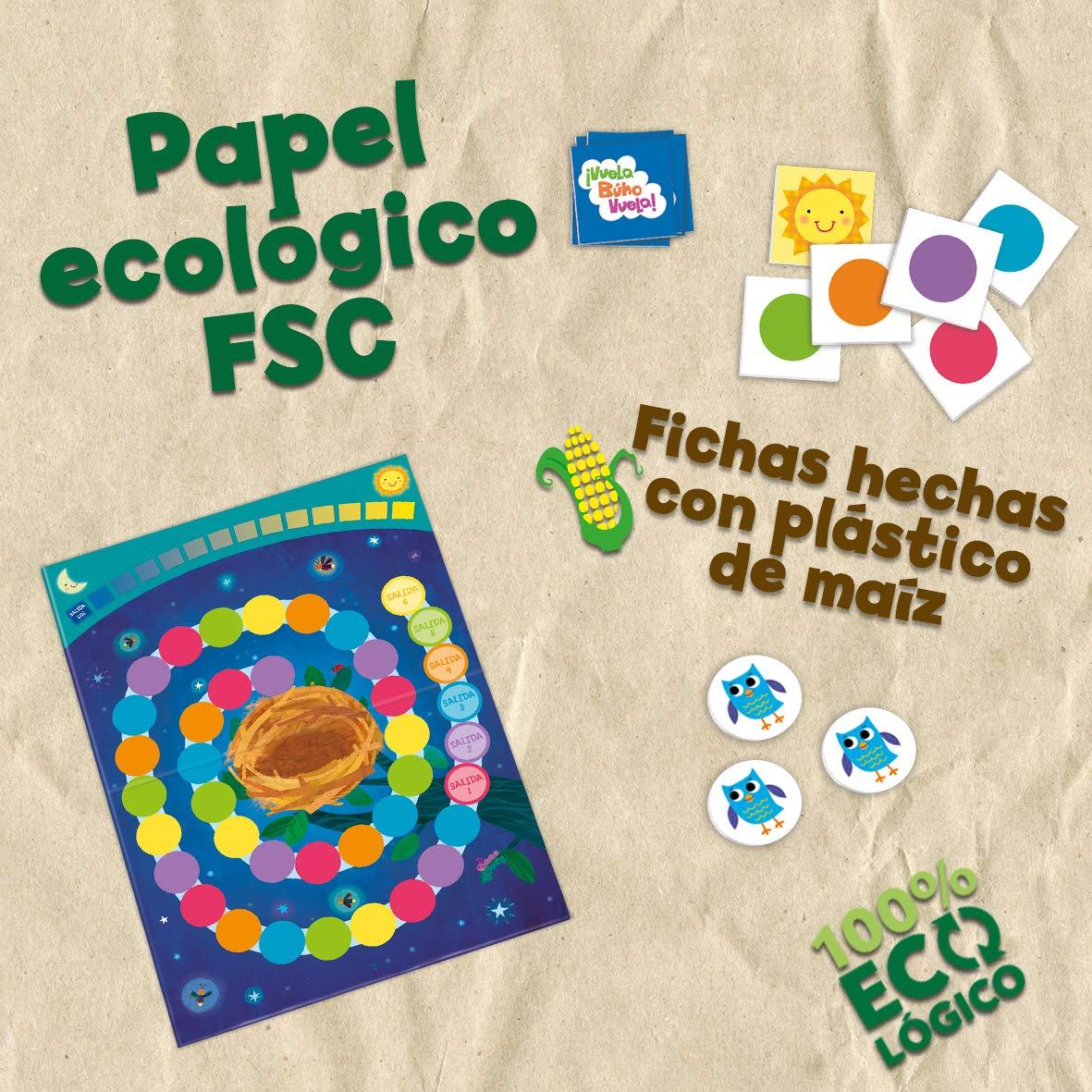 Vuela Búho Vuela! Juego de mesa para niños cooperativo, Juego ecológico totalmente reciclable: Amazon.es: Juguetes y juegos
