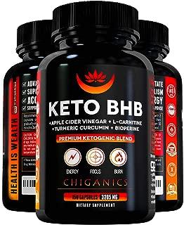 Powerful BHB Keto Pills Weight Loss 3200mg- Apple Cider Vinegar Capsules + Turmeric Curcumin + L-Carnitine -Boost Energy & Metabolism- Keto Fat Burner Pills & BHB Exogenous Ketones - Keto Diet Pills
