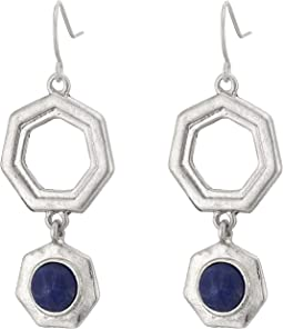 Geo Stone Double Drop Earrings