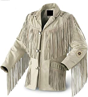 9b9d3e34e54d GWL Best Mens Western Cowboy Genuine Suede Leather Jackets Fringe 27 5XL