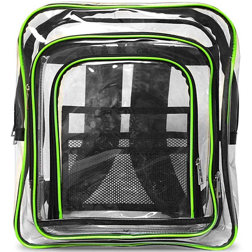二次食べる箱Rodinny poklad エンジニアバッグ リュック Lサイズ 帯電 静電気 防止 クリーンルーム 透明 B4 緑