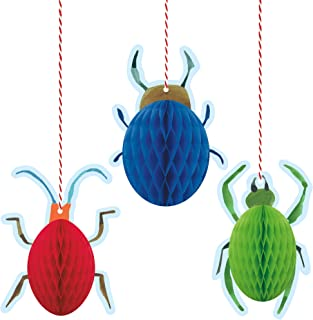 Unique Bug 1st Birthday Honeycomb Decorations, Kid's Birthday Party - 3 Count