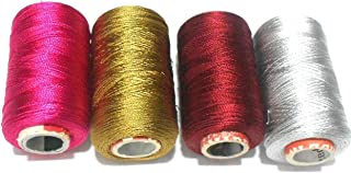 GOELX Shiny Soft Silk Thread for Beading, Tassel Making and Jewelry Making