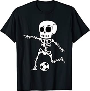 Skeleton Goalie Halloween Funny Soccer Football Easy Costume T-Shirt