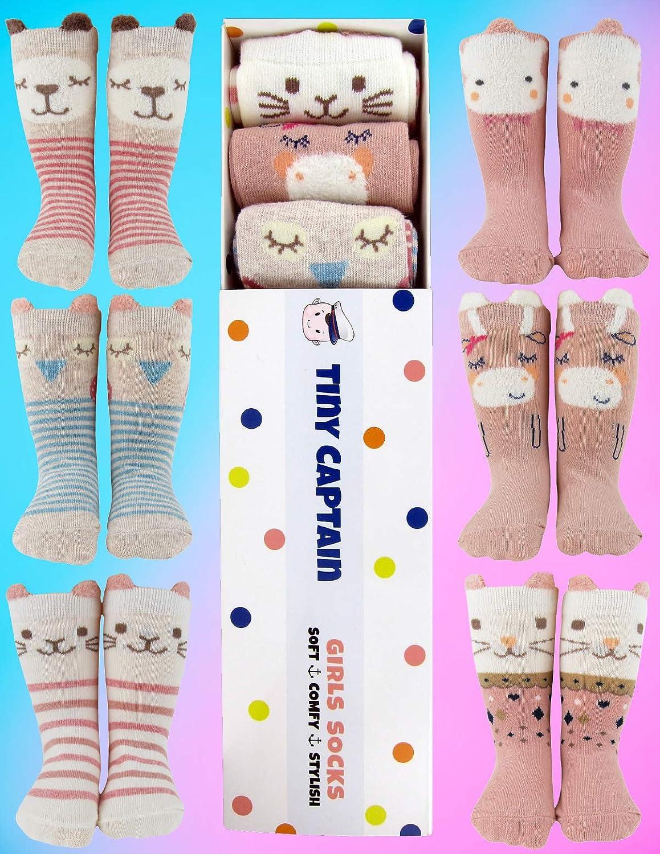 Baby Toddler Girls Animal Grip Tube Socks Anti-Skid Cartoon Newborn, Infant, Baby and Toddler Socks