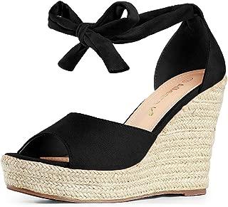 Women's Espadrilles Tie Up Ankle Strap Wedges Sandals