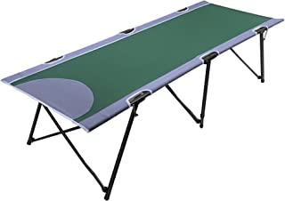 PORTAL Folding Portable Camping Cot Stable Collapsible Adult Travel Cot Bed with Carry Bag, Support 300lbs