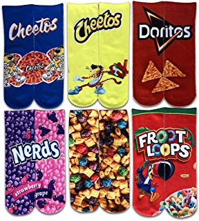 SherryDC Women's Fashion Funny Crazy Food 3D Print Novelty Cute Casual Crew Tube Socks