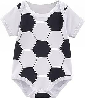 COSLAND Baby Boys' Sports Short Sleeve Bodysuit