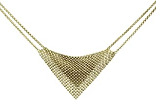 COLLECTION BIJOUX 100 18K Gold Electro Plated Perline Bib Necklace