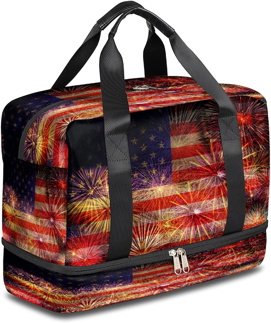 BOLOLI USA Flag Large discharge sale Travel Duffel Bag American Bombing free shipping W Gym Sports Tote