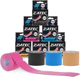 Cinta de Kinesiología precortada ZiATEC Pre-Cut Kinesiology Tape | Cinta de quinesiología, piel sensible, ideal para principiantes, cinta deportiva, tamaño:4.5m (18 x 25cm), color:1 x beige