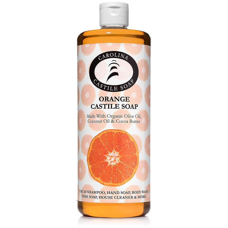 ユーモラスネックレット軽減するCarolina Castile Soap オーガニックカカオバターオーガニック 32オズ