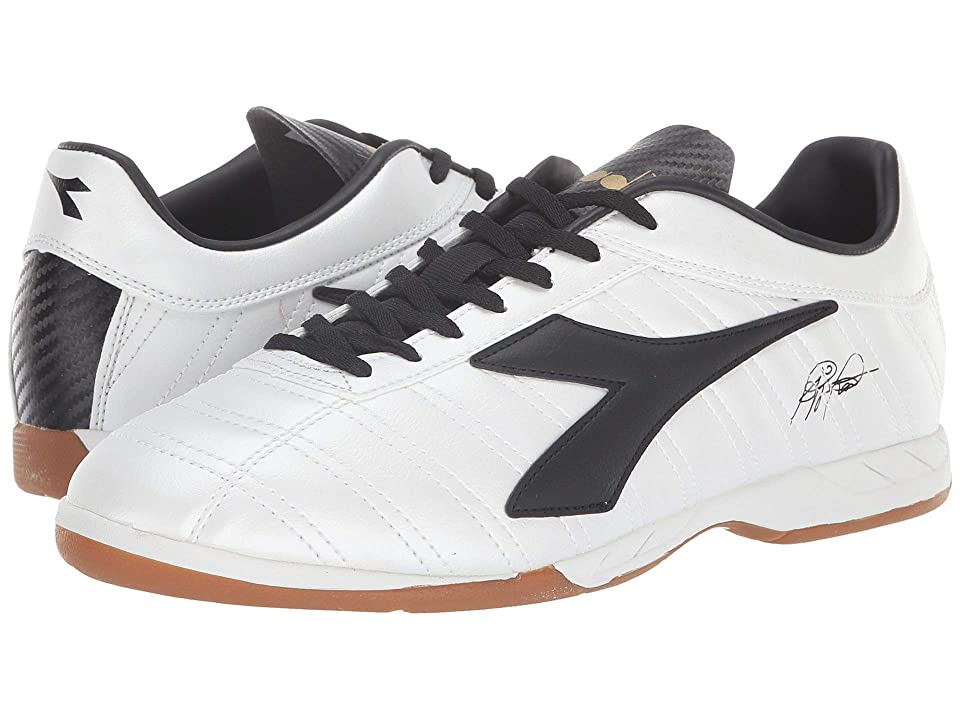 Diadora Baggio 03 R ID (White Pearlized/Gold) Soccer Shoes