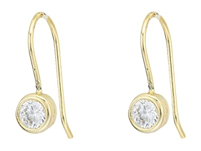 SHASHI Solitaire French Hook Earrings (Gold) Earring