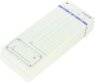 コクヨ お会計票 5冊パック 表紙なし 徳用タイプ 勘定書付き 100枚 テ-376