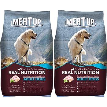 Meat Up Adult Dog Food, 1.2 kg (Buy 1 Get 1 Free)