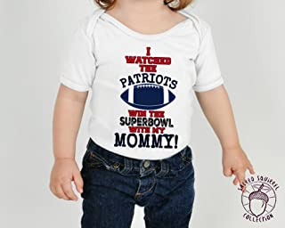 New England Patriots Baby Onsie Superbowl Champions 2019 Custom with Mommy Daddy Grandma or Grandpa Babies First Pats Bodysuit Mothers Day Gift