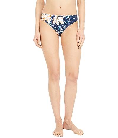 Roxy Lilies Surf Full Coverage Bikini Bottoms (Mood Indigo Happy Day) Women