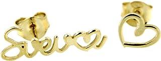 Orecchini Mucho Amor con nome personalizzabile