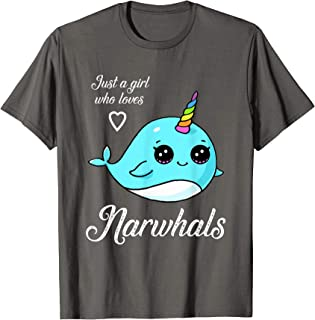 Just A Girl Who Loves Narwhals T-Shirt