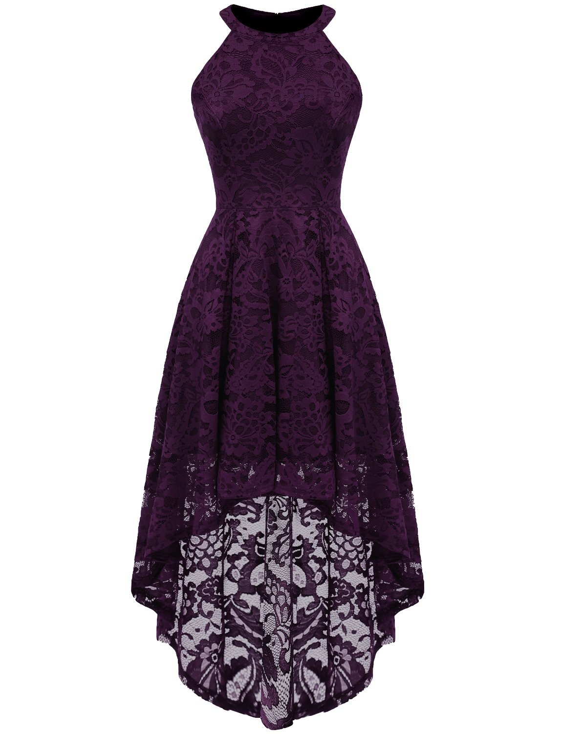 Wedding Guest Dresses - Women's Chic V-Neck Lace Patchwork Flare Party Dress A062