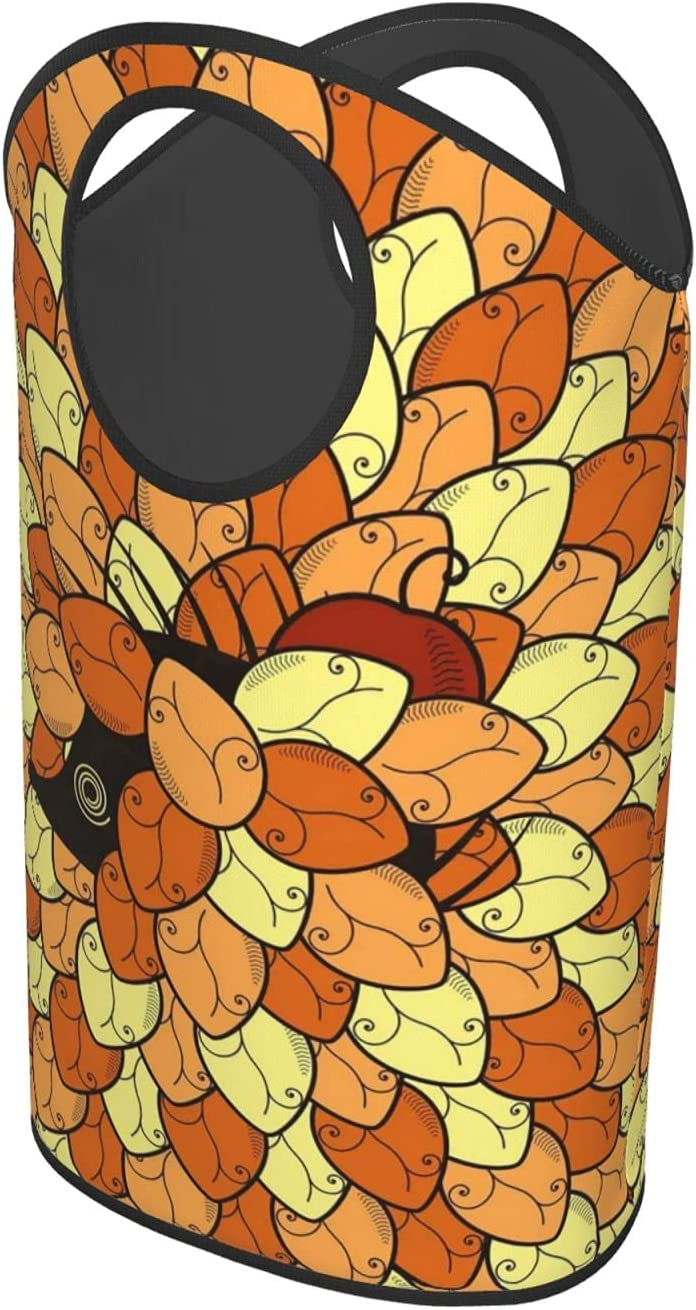 Hedgehog in Autumn LeafLaundry Hamper Foldable Cloth Or Max 49% OFF Upright quality assurance