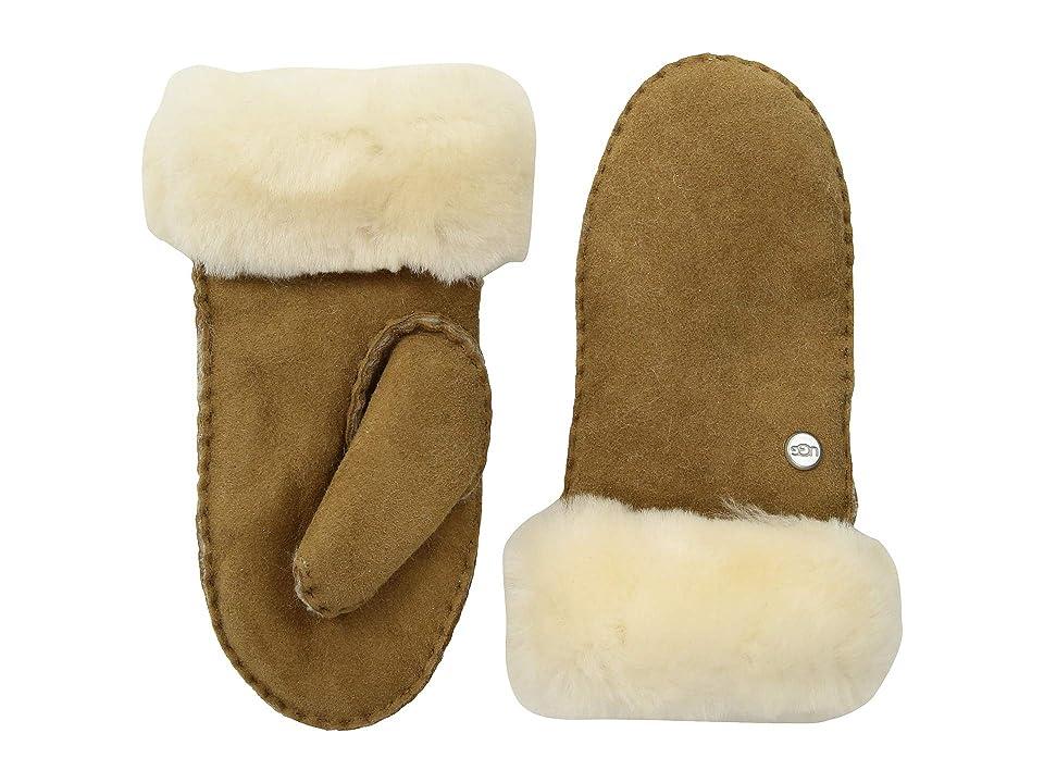 UGG Kids Water Resistant Sheepskin Mitten (Toddler/Little Kids) (Chestnut) Extreme Cold Weather Gloves