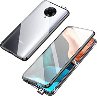 Jonwelsy Magnetic Adsorption Case for Xiaomi Poco F2 Pro/Redmi K30 Pro, 360 Degree Front and Back Clear Tempered Glass Fli...