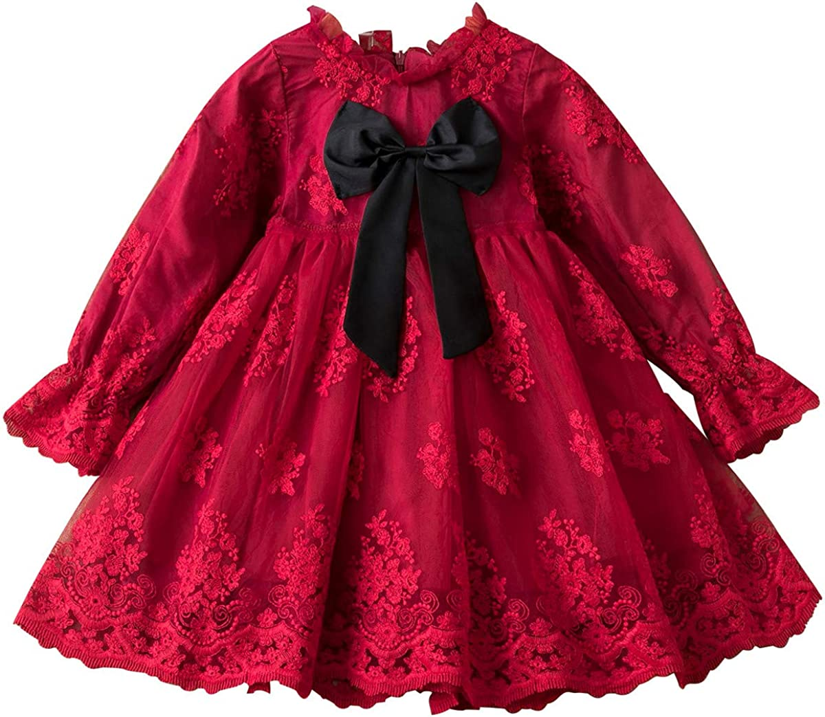 HNXDYY Little Girls Long Dress Sleeve lowest price Soft Casual Courier shipping free
