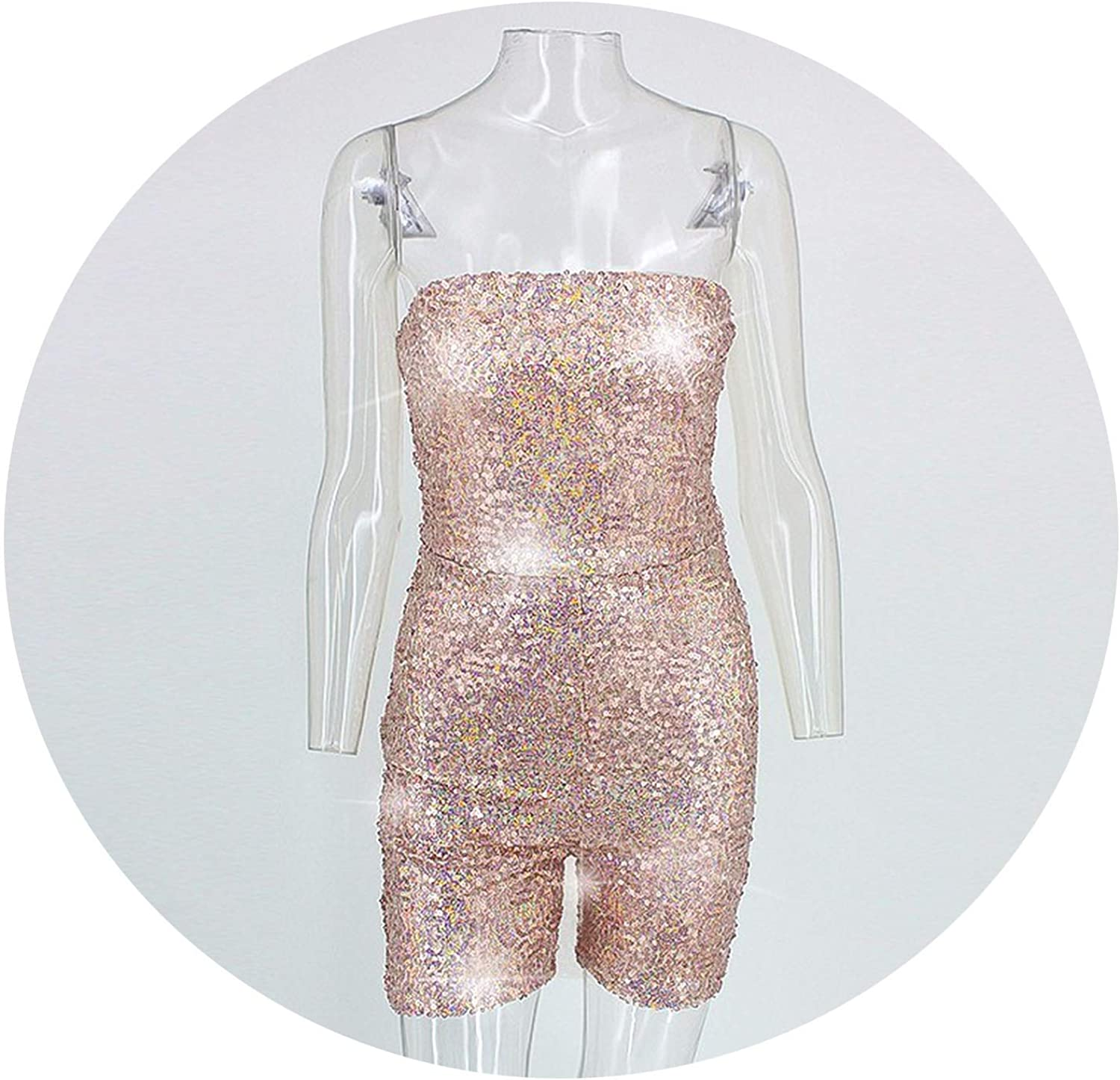 Don't mention the past Womens Jumpsuit Short Playsuit Women Sexy Sequin Bodycon Jumpsuits for Women 2019