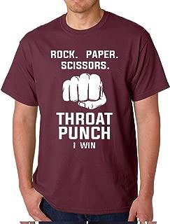 Rock Paper Scissors - Throat Punch I Win - Funny 80's 90's Retro Men's T-Shirt