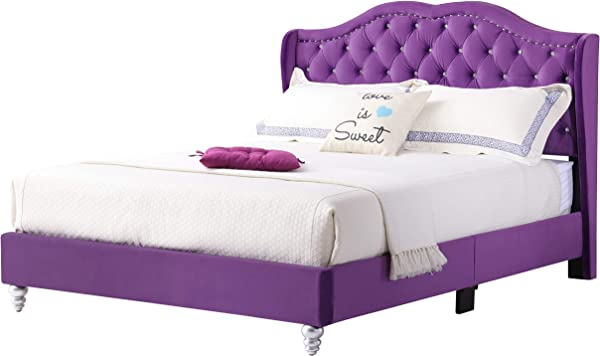 Glory Furniture 1932 FB UP Upholstered Bed Full Purple