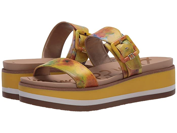Sam Edelman  Agustine (Lemon Zest Multi Shibori Print Nappa Leather) Womens Shoes
