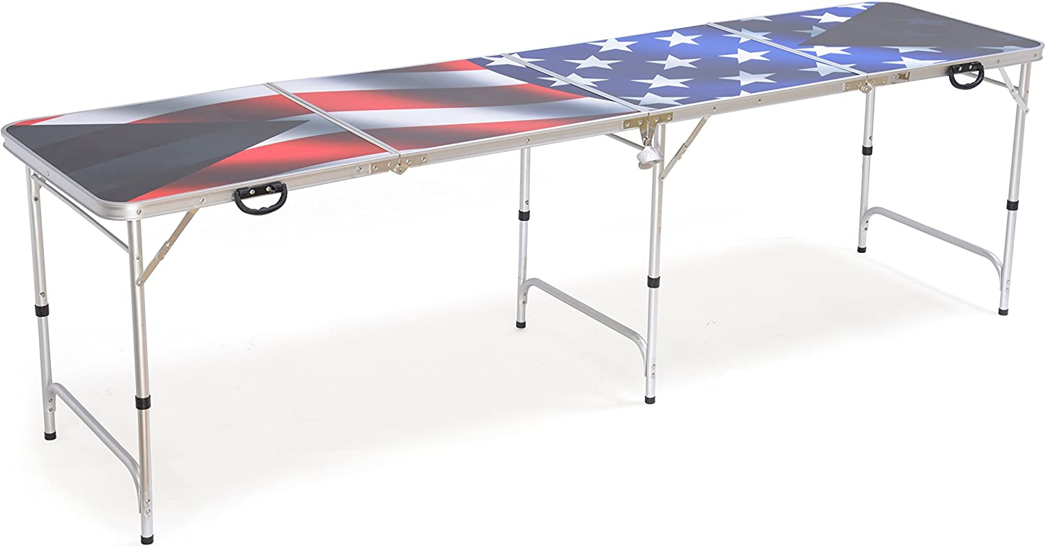 Award-winning store Red Our shop OFFers the best service Cup Pong American Flag Beer Table 8'