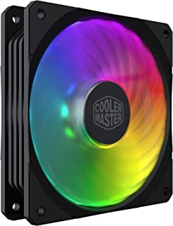 Cooler Master MasterFan SF120R ARGB 120mm Square Framed Fan with 8 Independently-Controlled Addressable ARGB LEDs, Hybrid ...