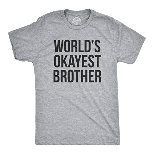 Mens Worlds Okayest Brother Shirt Funny T Shirts Big Sister Gift Idea