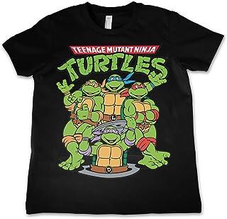 9aafbc33bf8 Teenage Mutant Ninja Turtles T Shirt Group Shot Official Kids New Black  3-12Yrs