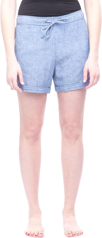 Alki'i Missy Women's Linen Shorts with Pockets