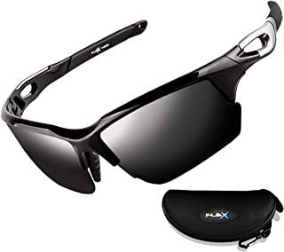 Polarized Sports Sunglasses for Men & Women,Ultra tough & lightweight frame with UV400 HD lens