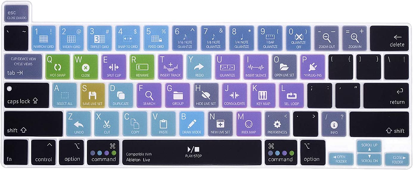 WYGCH Ableton Live Silicone Shortcuts Japan's 5 ☆ popular largest assortment Skin Cover for Ma Keyboard